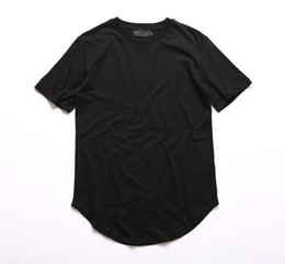 Urban tshirts online shopping - Kanye West Extended T Shirt Men Summer Curved Hem Longline Hip Hop Tshirts Urban Blank Mens Tee Shirts Justin Bieber Clothes