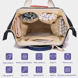 large plastic zipper bags UK - Mummy Nappy Backpack Zipper Large Capacity Travel Maternity Bag Diaper Baby Bag Multifunctional Nursing Baby Care Bagpack