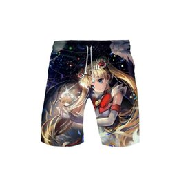 sailor moon sale NZ - Sailor Moon 3D Shorts Print Men Hot Sales Casual Cool and Breathable Harajuku New Arrival Summer Beach Shorts K-pops