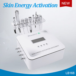mesotherapy microcurrent machine Canada - No Needle Mesotherapy Facial Machine For Skin Rejuvenation Wrinkle Removal With Diamond Dermabrasion RF Microcurrent Cooling Oxygen