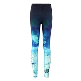 $enCountryForm.capitalKeyWord Australia - Star Digital Printed Blue Snow Mountain Bottom Pants Sports Fashion Elastic Yoga Fitness Pants