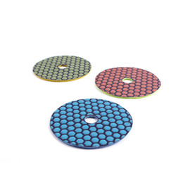 ST12 Factory Prices Diamond Stone Polishing Pads 4 Inch Diamond Flexible Dry Polishing Pads for Stone 10PCS on Sale