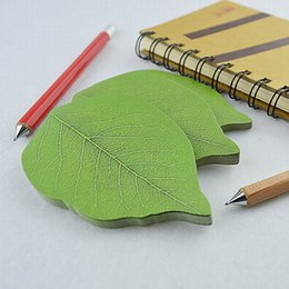 $enCountryForm.capitalKeyWord Australia - Green Cute Memo Pad Creative Leaf Sticker Note For Kids Gift Novelty Item Korean Stationery