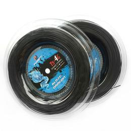 $enCountryForm.capitalKeyWord UK - 1 Reel 1.30mm 1.25mm Tennis String 4G Polyester Training Racket String 200m Reel Gym Sport Outdoor Black String