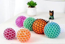Free Green Gadgets Australia - 5cm 7cm Cute Anti Stress Face Reliever Grape Ball Autism Mood Squeeze Relief Healthy Toy Funny Gadget Vent Decompression toys Free delivery