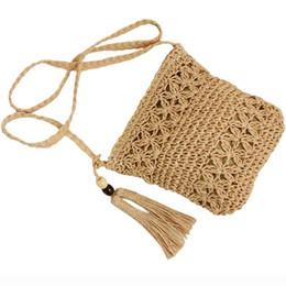 $enCountryForm.capitalKeyWord UK - Women Messenger Bags Hollow Out Woven Single Shoulder Crossbody Tassel Beach Casual Straw Bag For Women Girl Bags