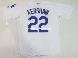 $enCountryForm.capitalKeyWord Australia - Cheap Custom New Clayton Kershaw #22 Cool Base jerseys White Stitched Retro Mens jerseys Customize any name number