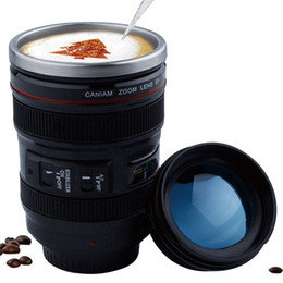 $enCountryForm.capitalKeyWord Australia - Creative 400ml Stainless Steel Liner Camera Lens Mugs Coffee Tea Cup Mugs With Lid Novelty Gifts Thermocup Thermo Mug SH190713