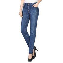 $enCountryForm.capitalKeyWord NZ - Women Denim Straight Trousers Blue Wash Jeans Pants Woman Casual Denim Trouser Slim Fit Pantalones Mujer Jeans Plus Size Trouser