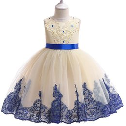 baby dresses cotton for wedding Australia - New Baby Girls Lace Flower Dress For Girls Birthday Clothes Wedding Party Dresses Kids Princess Christmas Children Clothing D1