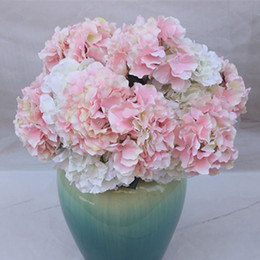real hydrangea flowers Australia - 5 fork Heads Artificial Flowers Hydrangea Bouquet Silk Flower Real Touch Fake Flower For DIY Home Wedding birthday Decor P10