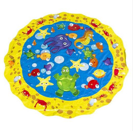 $enCountryForm.capitalKeyWord Australia - 100cm 2019 Sprinkle Splash Play Mat Toy Baby Water Spray Pad Pat Kids Outdoor Sprinkler Toys Perfect Inflatable Outdoor Sprinkler pad