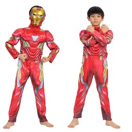 Superheroes Wholesale Clothing Australia - Nami Iron Man Warsuit Avenger Alliance 4 Iron Man 4 Children's Performing Dress Festival Dance Costume Superhero cosplay clothes+mask C22