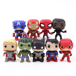 12 Spiderman Figures Australia - Marvel Dc Super Heroes Avengers Captain America Iron Man Spiderman Black Panther Thor Pvc Action Figure Toys 9pcs set Q190604