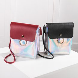 Hasp Ring Australia - Women Fashion Laser bags 2018 New Crossbody Cover Ring Hasp Messenger bags Female Girls Mini Casual Shoulder Coin Phone bagss