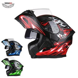 dot approved helmets UK - Wosawe Motorcycle Full Face Helmet Visor Liner Racing Helmet Anti -Fall Motorbike Safety Head Protection Dot Approved Moto