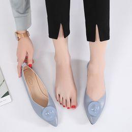 Comfortable Soft Women Shoes Australia - New summer women designer shoes ladies flat pointed toe soft leather ballet flats,ladies blue beige black comfortable loafer dress shoes