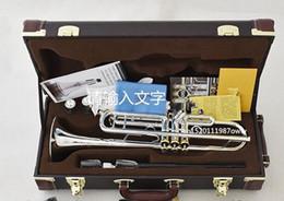 $enCountryForm.capitalKeyWord Australia - Silver Plated Trumpet NEW Bach Original Silver-plated body gold key LT190S-85 B flat professional trumpet bell Top musical instruments Brass