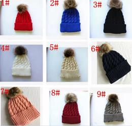 $enCountryForm.capitalKeyWord Australia - Winter Mom Women Baby Kids Girl Boy Newborn Crochet Knitted Hats Skull Caps Wool Fur Ball Pompom Beanies Hat