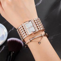 $enCountryForm.capitalKeyWord Australia - Ma'am Waterproof Wrist Watch Occupation Temperament Exquisite Trend Rivet Type Bracelet Woman Table Group Combine Dress