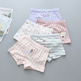 $enCountryForm.capitalKeyWord Australia - 15Pcs Lot Girls cute hellokitty Children's underwear boxers kids underpants Suitable for 2 years to 14 year girls flat thin panties S19JS158
