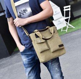 $enCountryForm.capitalKeyWord Australia - Fashion Briefcases Men Pure Color Shoulder Bags Canvas Bag Cross Body Zipper Casual Work Acces Supply