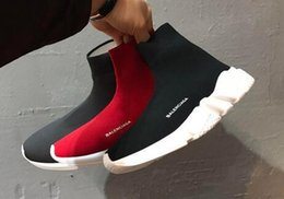 A7 2020 Moda Speed ​​Trainer Sock Sapatos Homens Mulheres Triplo Black Red White Glitter Volt Mens Formadores Runners Casual Sports Sneakers 4W4B venda por atacado