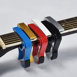 $enCountryForm.capitalKeyWord Australia - 200PCS New Aluminium Alloy Silver Quick Change Clamp Key Acoustic Classic Guitar Capo For Tone Adjusting Hot