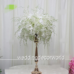Decor Tables Australia - mental stand only no flowers including )Beautiful Colours Table Floral Holder Wedding Bouquet Silk Centerpieces wrap garland Decor decor532