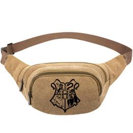 $enCountryForm.capitalKeyWord UK - Hogwarts School waistpacks H waist bag Witchcraft and Wizardry belt side packs Khaki color canvas bum pocket Outdoor sport waistbag