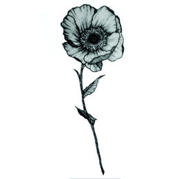82ad9fe336b41 One Flower Waterproof Temporary Tattoos Sticker Henna Tatoo Body Art Miss  Rose Fake Tattoo The Flash For Woman Men Ganesha