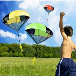 wholesale parachute toys Australia - Parachute Launcher land UFO Sky Diver With Figure Soldier Kids Children Outdoor Sport Play Toys Best Christmas Gifts Child Parachuts