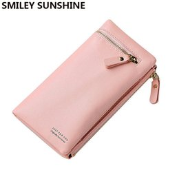 Discount big money bag - SUNSHINE big capacity women wallets zipper long ladies wallets 2018 coin purse money bag wristlet female wallet for phon