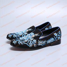 $enCountryForm.capitalKeyWord Australia - Vintage Floral Print Men Leather Dress Shoes Slip on Party Banquet Men Loafers Plus Size Casual Flats Shoes