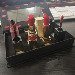 $enCountryForm.capitalKeyWord Australia - New Luxury Y Brand TATOUAGE COUTURE Matte Lip Stain 4 Colors Lipstick Set Lipstick Lipgloss 4 in 1 Makeup Set