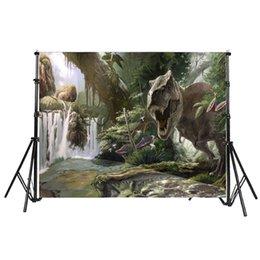 Dinossauro Jurássico Tema Tema Tiranossauro Selva Fundo Da Foto 3D Vinil Photo Backdrops para Festa Decoração Estúdio Adereços em Promoção
