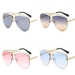Sun Glasses Double Lens Australia - Summer Lady Sunglasses Double Beam Sun Glass Metal Women Man Eyewear Comfortable Nose Rest Delicate Fashion Popular 13jhb D1