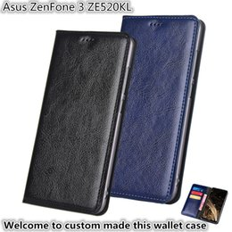 asus holder Australia - QX13 Gneuine Leather Wallet Phone Bag With Card Holders For Asus ZenFone 3 ZE520KL Phone Case Kickstand For Asus ZenFone 3 ZE520KL Case