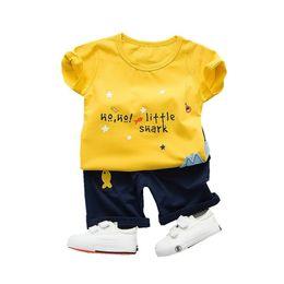 14f35d03857e9 Children Boy Girl Fashion Clothes T-shirt Pants Baby Cartoon Fish 2 Stks Set  Summer Kids Toddler Tracksuits Cotton Clothing