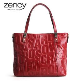 $enCountryForm.capitalKeyWord Australia - Zency Luxury Female Shoulder Bag 100% Natural Leather Fashion Grey Messenger Lady Charm Dark Red Handbag Crossbody Purse Y19062003