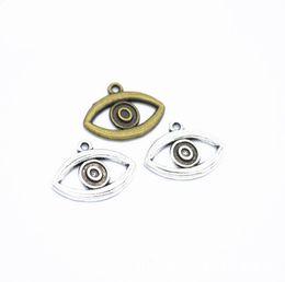 Eye Shaped Pendants Australia - 2019 New hot sale Evil Eye Shape Jewelry Accessories Metal alloy pendant DIY Retro Bracelet Necklace Jewelry Accessories