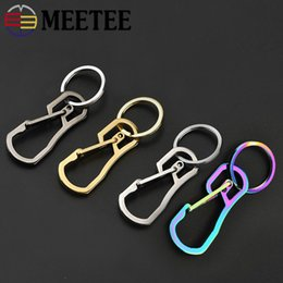 metal key clasps Australia - Meetee 60*25mm Stainless Steel Metal Creative Key Chain Ring Hook Clasp Clip Waist Hang Buckle DIY Bag Belt Gift Accessory BD459