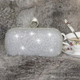 wedding bridal hand bags ladies handbags Australia - Bling Bling SilverGold Bridal Hand Bags Fashion Crystal Beaded Ring Women Clutch Bags for Special Party Evenings Formal Occasion Knucklebox