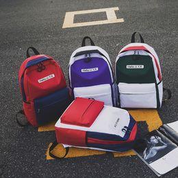 $enCountryForm.capitalKeyWord Australia - Students Teenager New Patchwork Color School Bag Women Fashion Cute Backpack Girls Korean Large Capacity Casual Cool Travel Bags