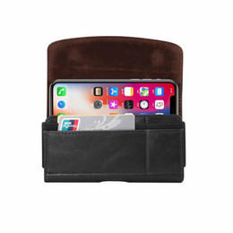 leather belt holster case NZ - Classic PU Leather Belt Buckle Pouch Bag Clip Holster universal Case For huawei honor 7 Max 6.9inch Universal Phone Cases for iphone XS max