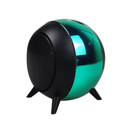 mini ball portable speaker Canada - Ball Bluetooth Speaker Wireless Large Volume Mini Speaker Subwoofer FM Multicolored Ball Light Speaker VI soundbox