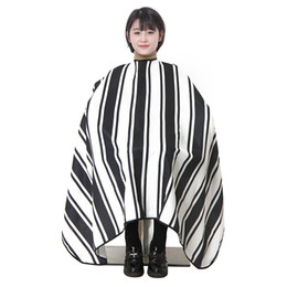 $enCountryForm.capitalKeyWord Australia - Hot Black white stripe Barber Cape Waterproof Non-stick hair Soft Salon Cutting cape Hairdressing Cloth Hair styling Free shipping