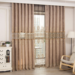 Coffee Jane Eurospace Cheney High Shade Curtains for Living Dining Room Bedroom. on Sale