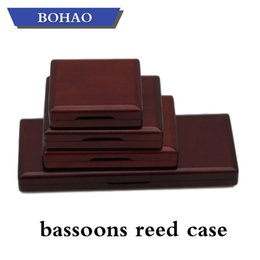 Wholesale BOHAO Maple Wooden Bassoon Reed Case 3 5 6 11PCS Reed Hold reed box