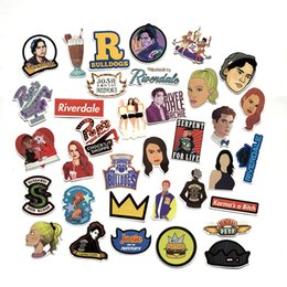 Bicycle figures online shopping - 35 U S Drama Riverdale Cartoon Mixed Series Stickers For Notebook PC Skateboard Bicycle Car Moto DIY Waterproof Toy Sticker